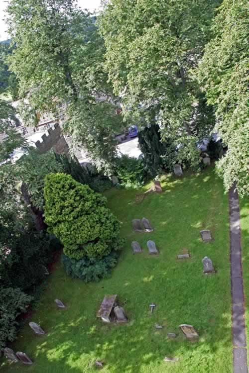 Blanchland churchyard